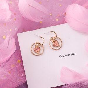 ❤️️NEW UNIQUE Hoop Heart Handmade Earrings P17